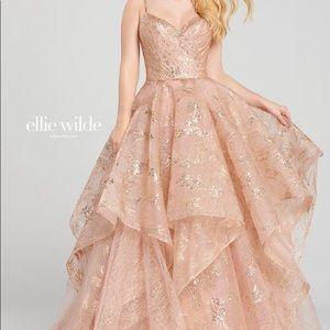 Ellie Wild Rose Gold ball gown